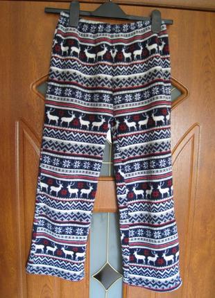 Пижамные махровые штаны alfie&rose