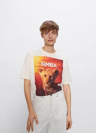 Шикарная футболка оверсайз размер л zara disney оригинал