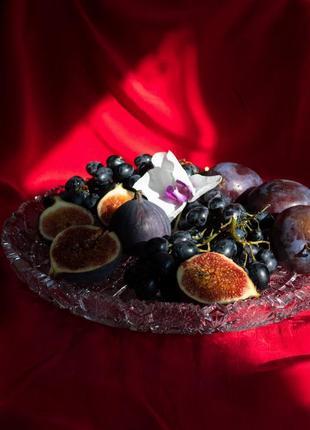 Винтаж ❤️ хрустальное блюдо bohemia богемия чехословакия