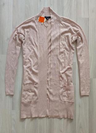 Жіночий ніжний рожево-пудровий кардиган розмір с