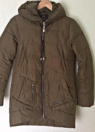 Натуральный пуховик куртка зимняя пальто