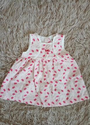 Детское платье для девочки розовое на кнопочках