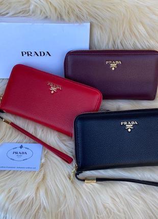 Женский кожаный кошелёк клатч на молнии жіночий шкіряний гаманець чёрный красный бордовый