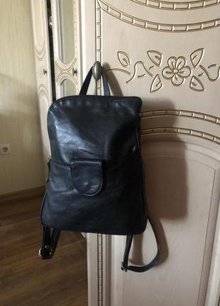 Небольшой милый кожаный рюкзак городской рюкзачок, натуральная кожа