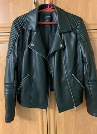 Кожаная куртка- косуха от ostin 🖤
