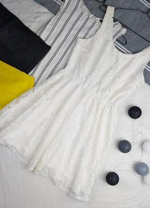 Платье с отрезной талией из кружева cubus