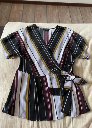 Блуза на запах, пляжная туника, накидка. летняя легкая женская блузка.