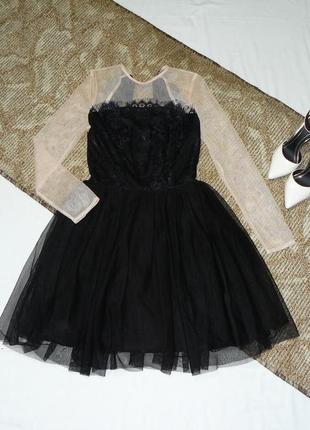 Дорогое платье с фатинос и красивой спинкой,платье сетка,випускное платье