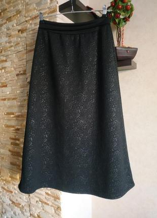 Теплая длинная юбка