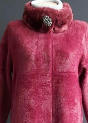 Шикарное теплое пальто,кардиган,с альпаки, размер универсальный.
