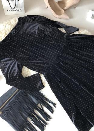 Невероятно крутое велюровое платье в блестящее вкрапление на р. м/л...💄💋❣️