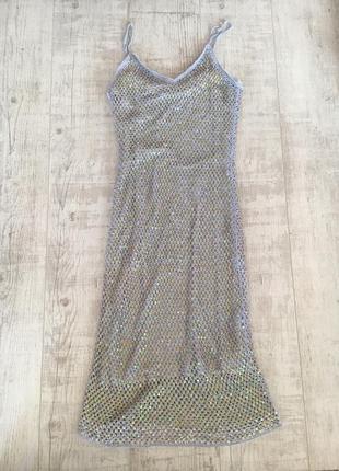 Сукня платье плаття в паєтки паетки
