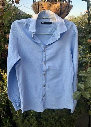 Брендовая рубашка в стиле минимализм , коттон + лён ☘️