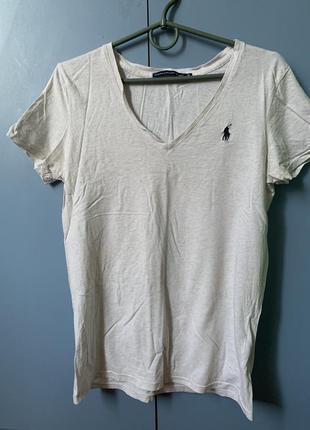Polo ralph lauren футболка с v- образным вырезом
