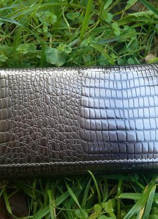 Шкіряний лаковий гаманець / кошелек