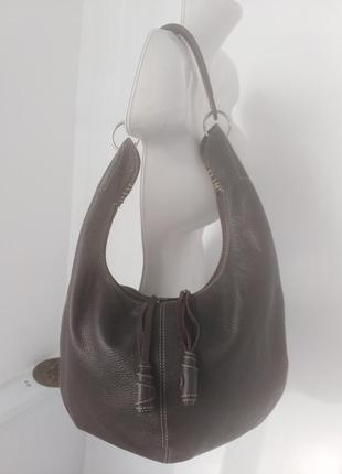 Стильная кожаная сумка zanotti .