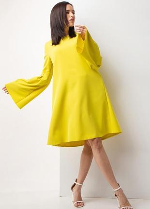 Желтое платье трапеция