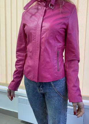Куртка натуральная кожа vera pelle оригинал италия xs в идеале
