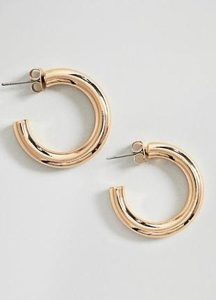 Обємні сережки кільця, серьги гвоздики, серьги кольца weekday з сайту asos