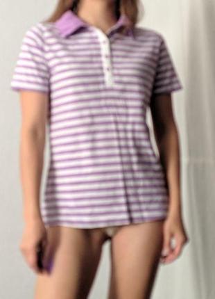 Фиолетовое полосатое поло #розвантажуюсь