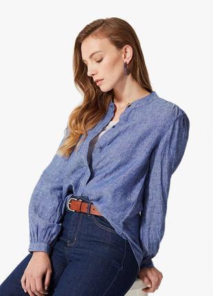 Отличная льняная рубашка, блуза  marks & spencer