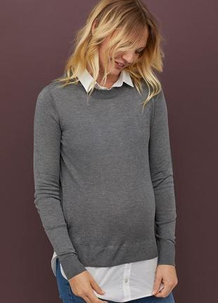 Новый джемпер, свитерок, тонкой вязки h&m для беременных. размер м и xl