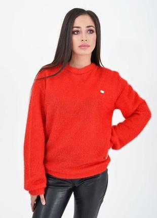 Свитер, цвет красный