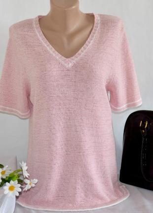 Красивая брендовая розовая кофта джемпер bonmarche