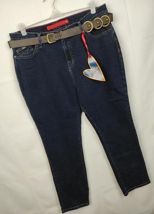 Джинсы новые стильные стрейчевые плотные большого размера marks&spencer uk 18/46/xxl