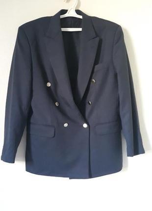 Винтажный шерстяной пиджак  pierre exclusiv