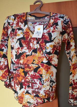 Кофточка -блуза яркая