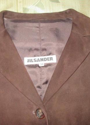 Jil sander кожаный (замшевый) пиджак
