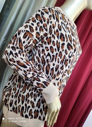 Трендова тигрова тепла кофточка h&m