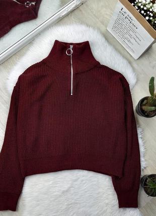 Стильный плотный свитер с молнией колечко urban outfitters