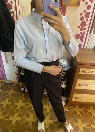Шикарная рубашка на пуговицах с декоративными манжетами
