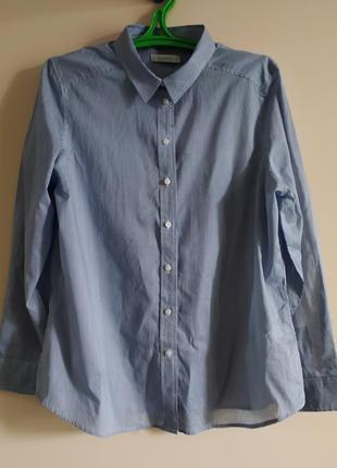 Новая хлопковая  рубашка в полоску от marks & spenser