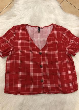 Блузка на ґудзики коротка