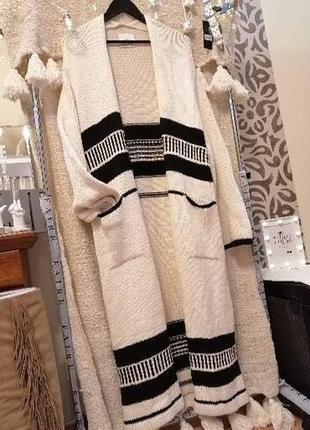 Пальто вязаное кардига