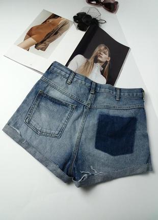 Шорты высокая посадка!шорти джинсові topshop//