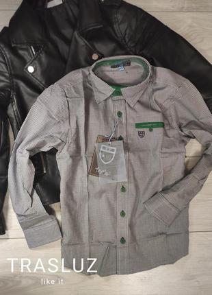 Очень стильная рубашка !122-133 trasluz