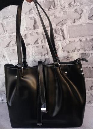 Большая женская сумка жіноча шкіряна велика