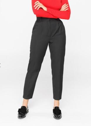 Эксклюзивные брюки бананы(98%' шерстяное волокно) с защипами, стрелками и манжетом внизу