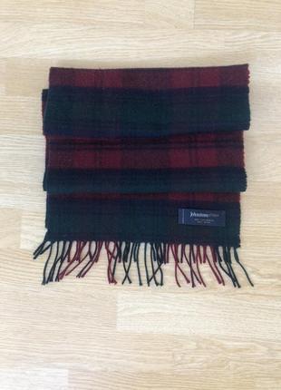 Johnston of elgin классный кашемировый шарф