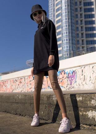 Удлиненный батник туника белый худи женская толтовка удлиненная