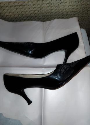 Туфли черные классические 39р.кожзам