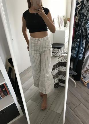Джинсы брюки в полоску top shop 36