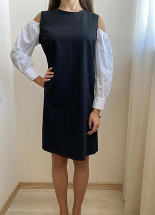 🖤чёрное платье с шикарными рукавами