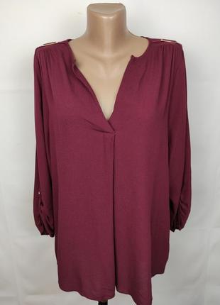 Блуза рубашка натуральная вискоза бордовая