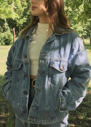 Винтажная джинсовая куртка джинсовка