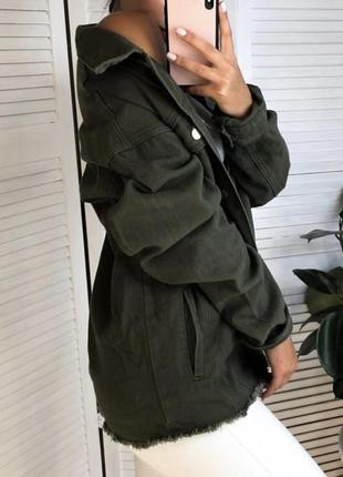 Куртка джинсовка жакет oversized от prettylittlething